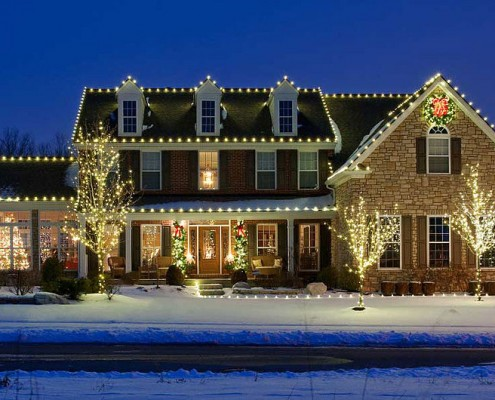 residential christmas decor