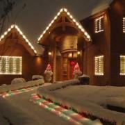 Walkway outdoor Christmas light service.