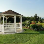 Gazebo in a yard.